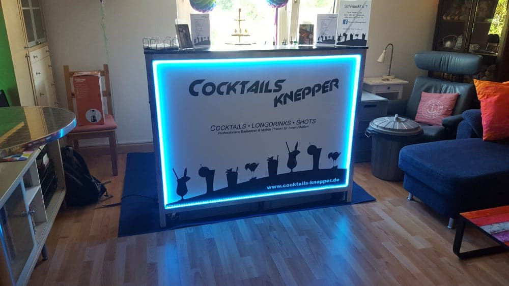 Knepper Management - Mobile Cocktailbar in der Wohnung