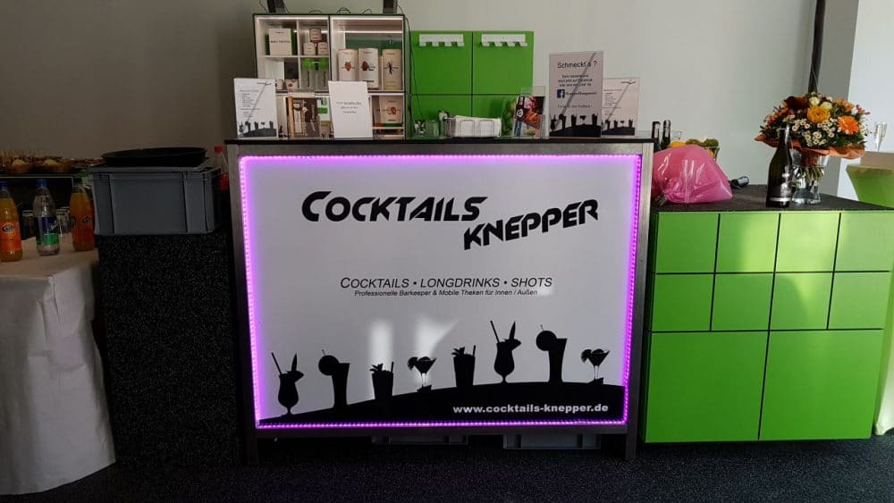 Mobile Cocktailbar im Fitness Studio