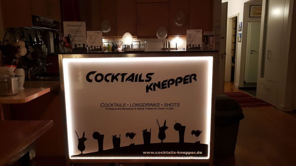 Knepper Management - Mobile Cocktailbar LED Beleuchtung