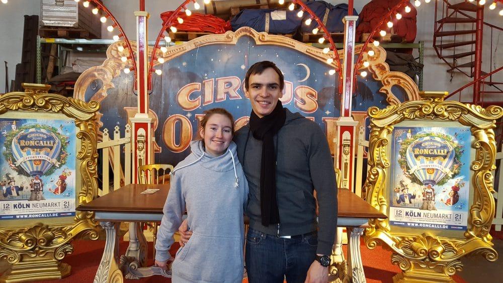 Mathieu Knepper und Michelle bei Roncalli