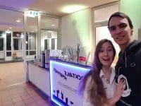 Mathieu Knepper und Michelle in der Schule