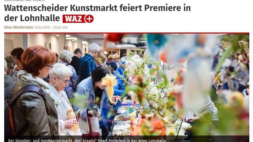 Wattenscheider Kunstmarkt - Wat-Kreativ 2019 - Knepper Management - Alte Lohnhalle Wattenscheid