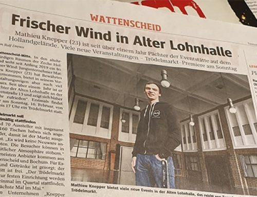 WAZ – Frischer Wind in Alter Lohnhalle