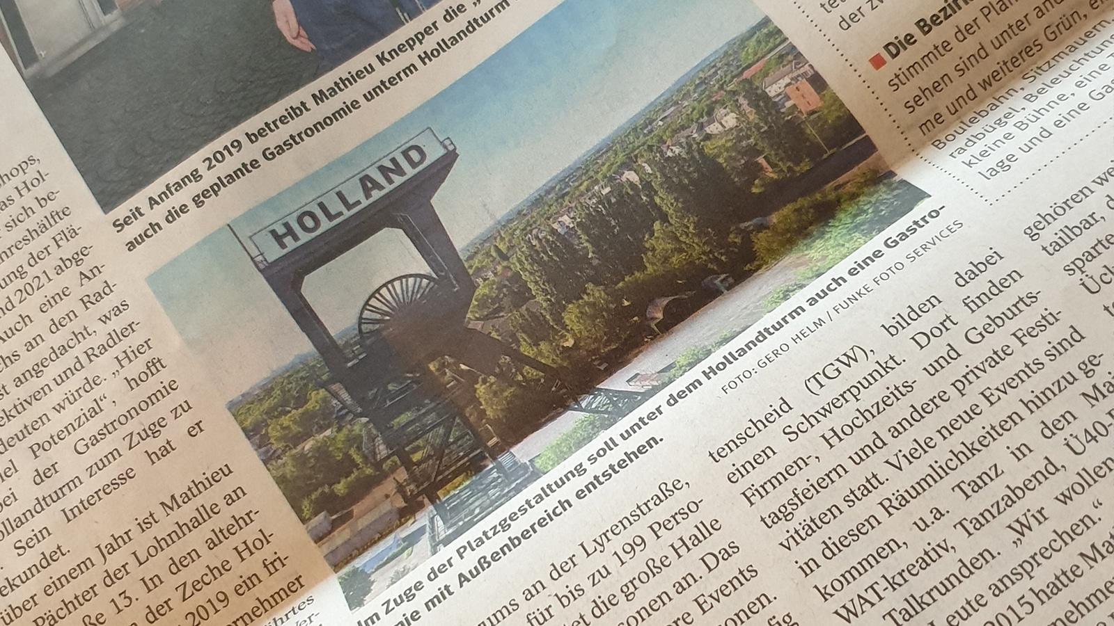 Knepper Management - Presse - WAZ - Hollandturm Gastronomie geplant