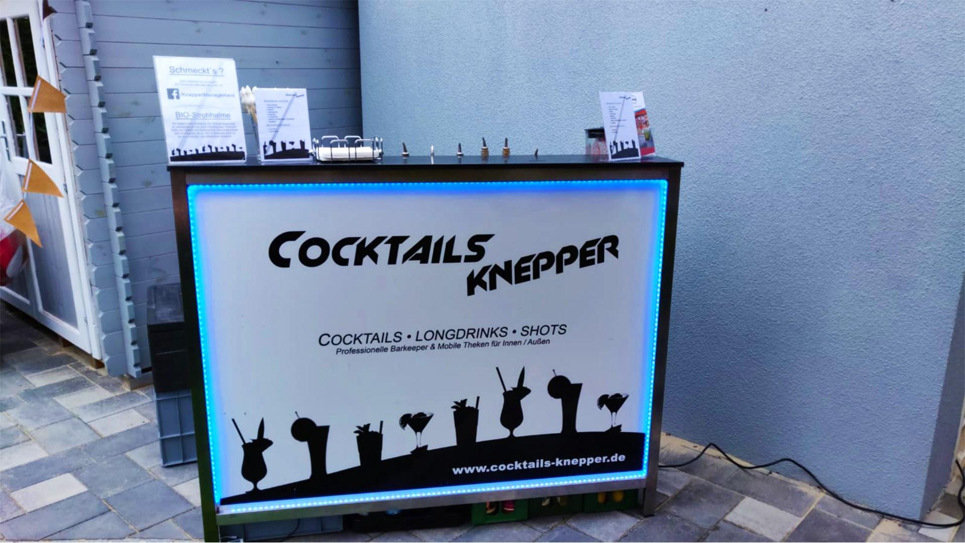 Cocktails Knepper - mobile Cocktailbar in NRW- Sonnenabend und Cocktailbar