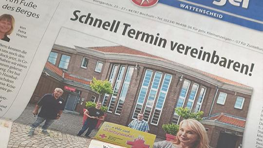 Knepper Management - Stadtspiegel - Spenden im Saal