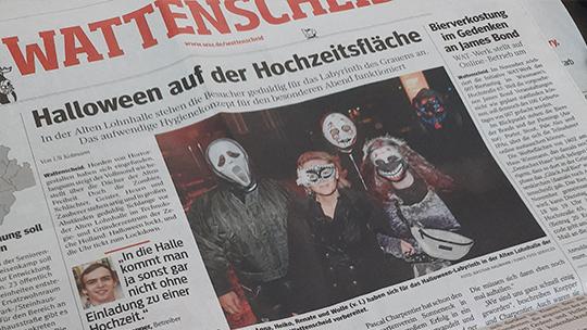 Knepper Management - Presse - WAZ - Halloween auf der Hochzeitsfläche