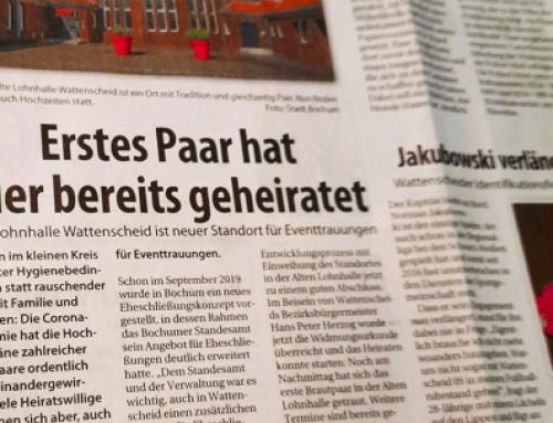 Stadtspiegel – Alte Lohnhalle Wattenscheid ist neuer Standort für Eventtrauungen